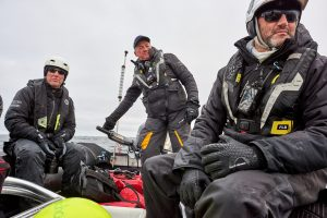 Cruising in a Zodiac During the Five Deeps Expedition