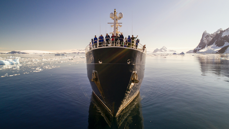 Superyacht Legend Sailing in Antarctica