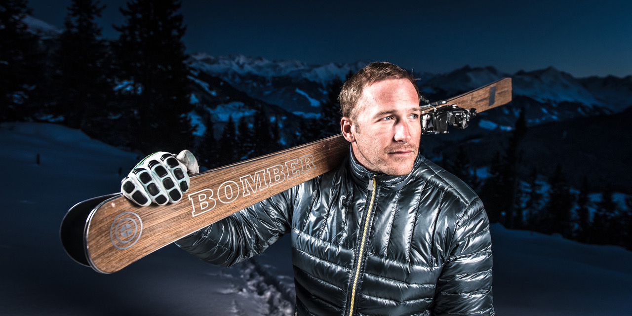 Bode Miller with Bomber Skis