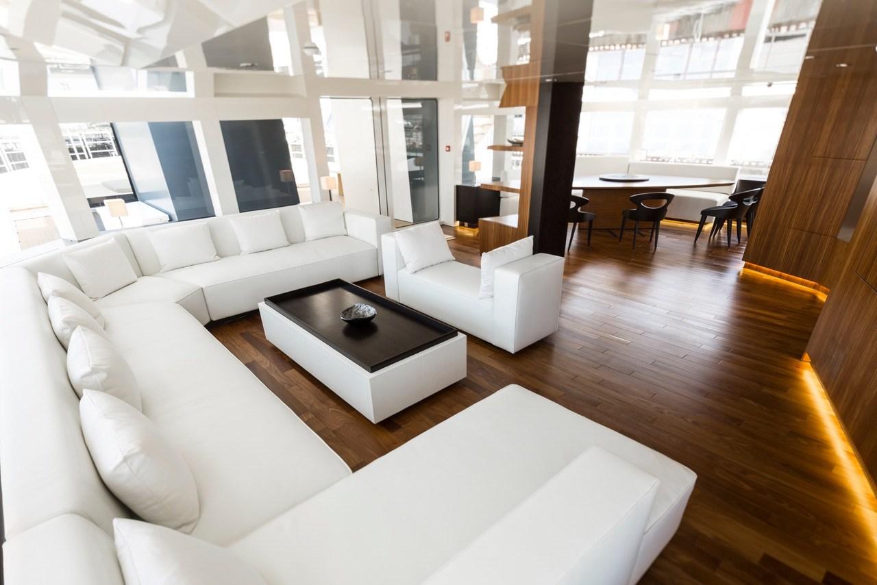 Superyacht ENIGMA XK Upper Saloon
