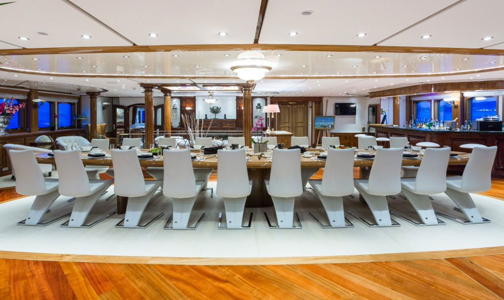 EYOS Expedition Legend Yacht Dining Room