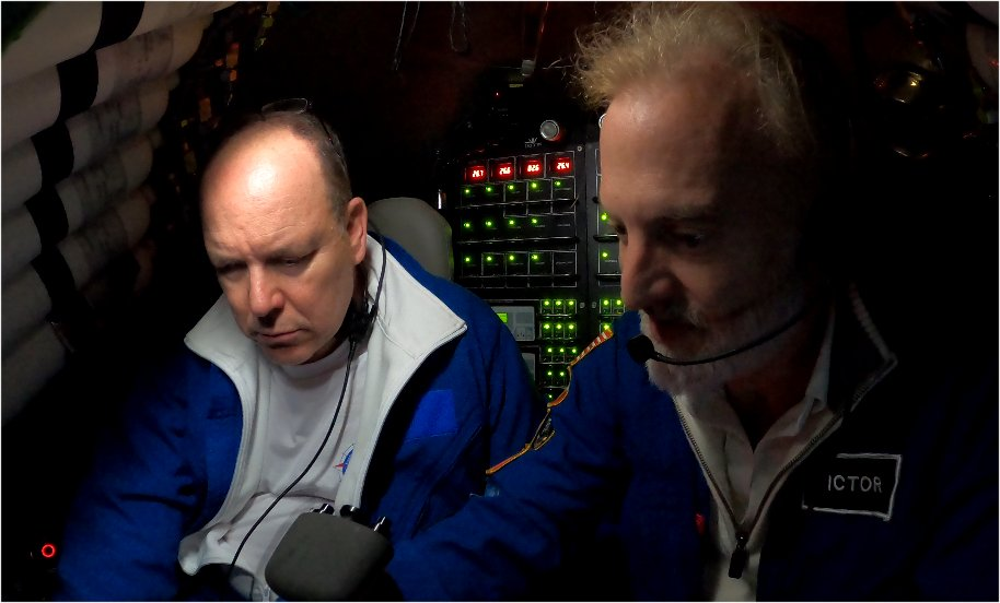 Prince Albert and Victor Vescovo in a submersible