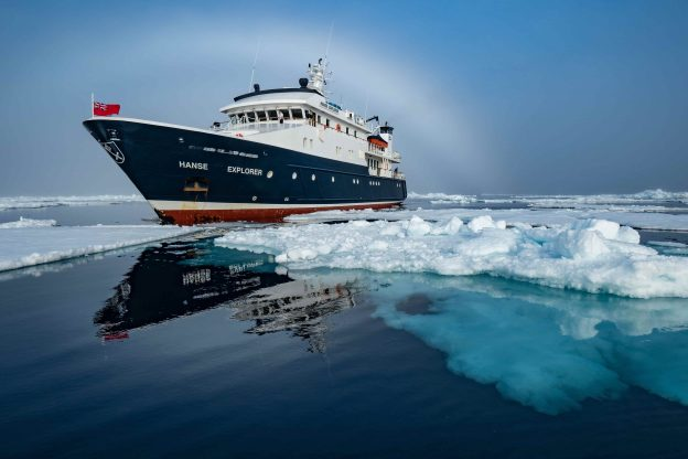 Superyacht Hanse Explorer in Ice