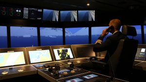 An officer in simulator for polar code training
