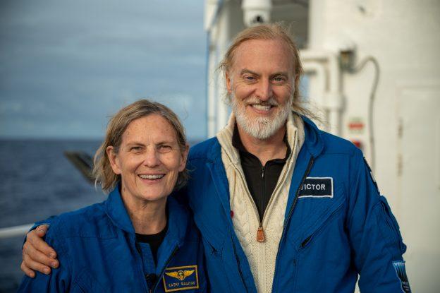 Victor Vescovo and Kathy Sullivan