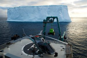 Preparing for a Submersible Lauch in Antarctica