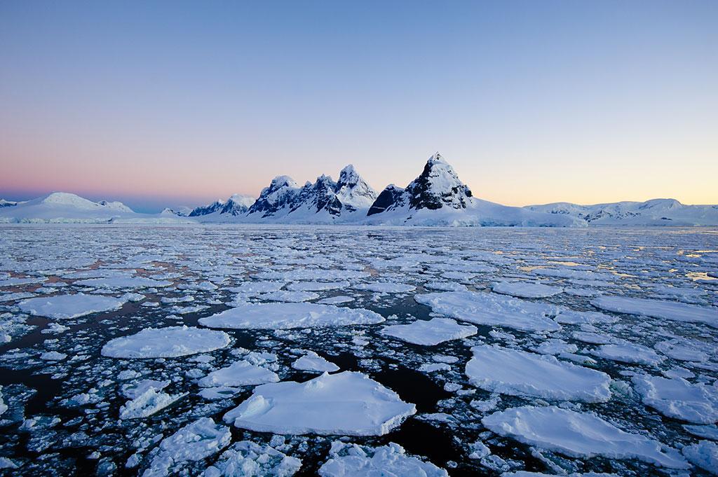 The Seven Sisters mountain range in Antarctica