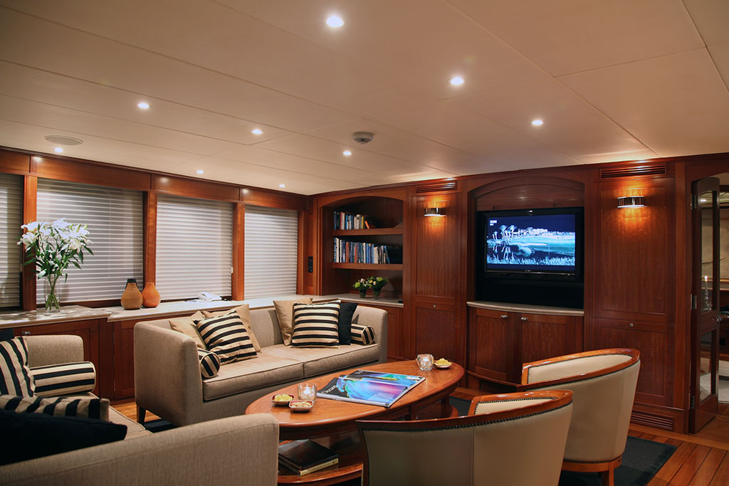 Asteria Luxury Expedition Yacht - the saloon