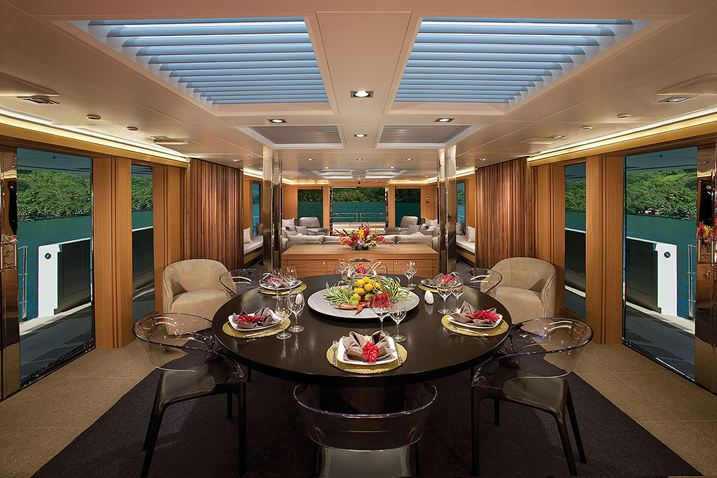 Big Fish luxury expedition yacht interior - the dining room