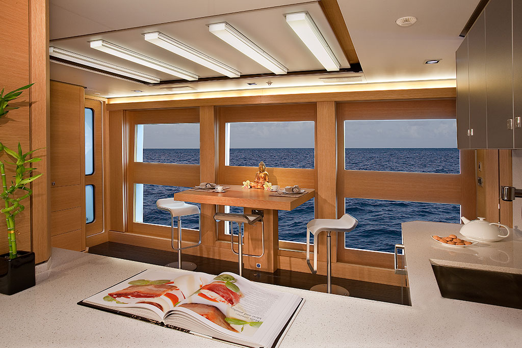 Big Fish luxury expedition yacht interior - the kitchen