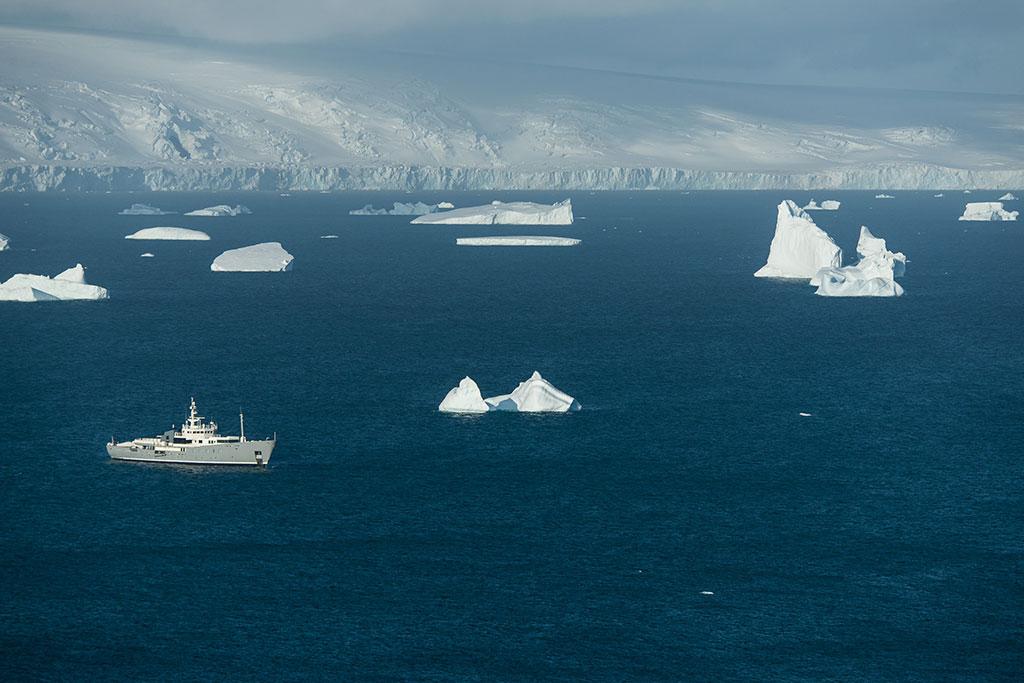 Expedition Yacht Enigma XK in Neko Harbor, Antarctica