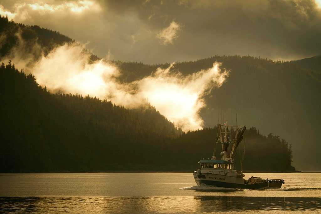 Alaska and fishing vessel