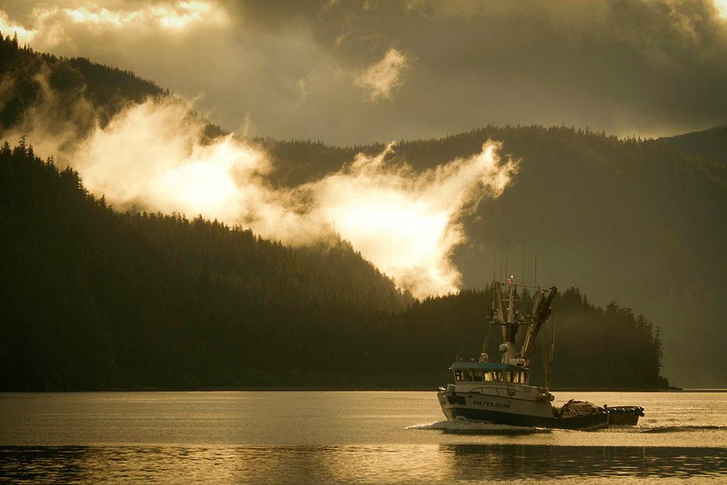 Alaska and fishing vessel