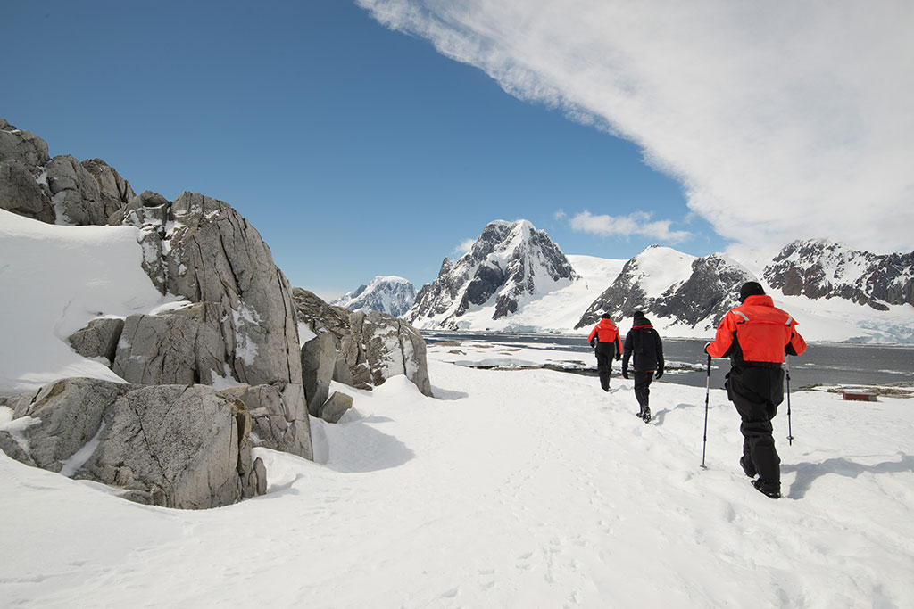Hiking in Antarctica