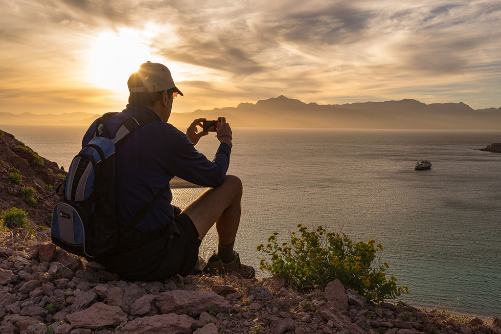 Man watching sunset in Baja