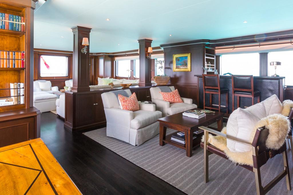 Pioneer luxury yacht interior