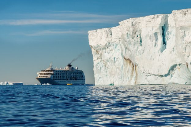 The World ship in Antarctica