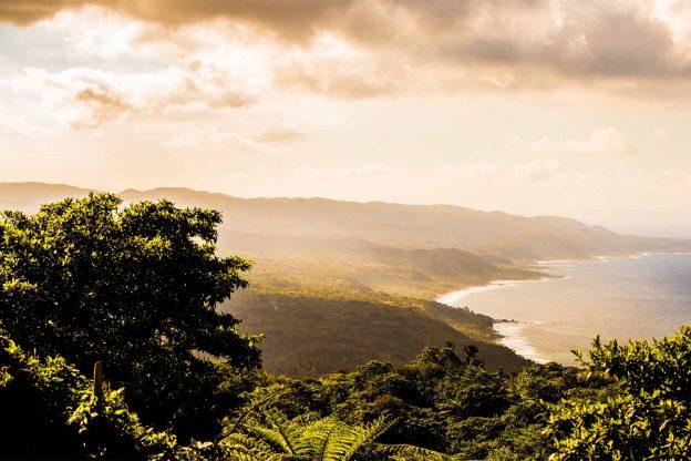 Vanuatu landscape at sunset