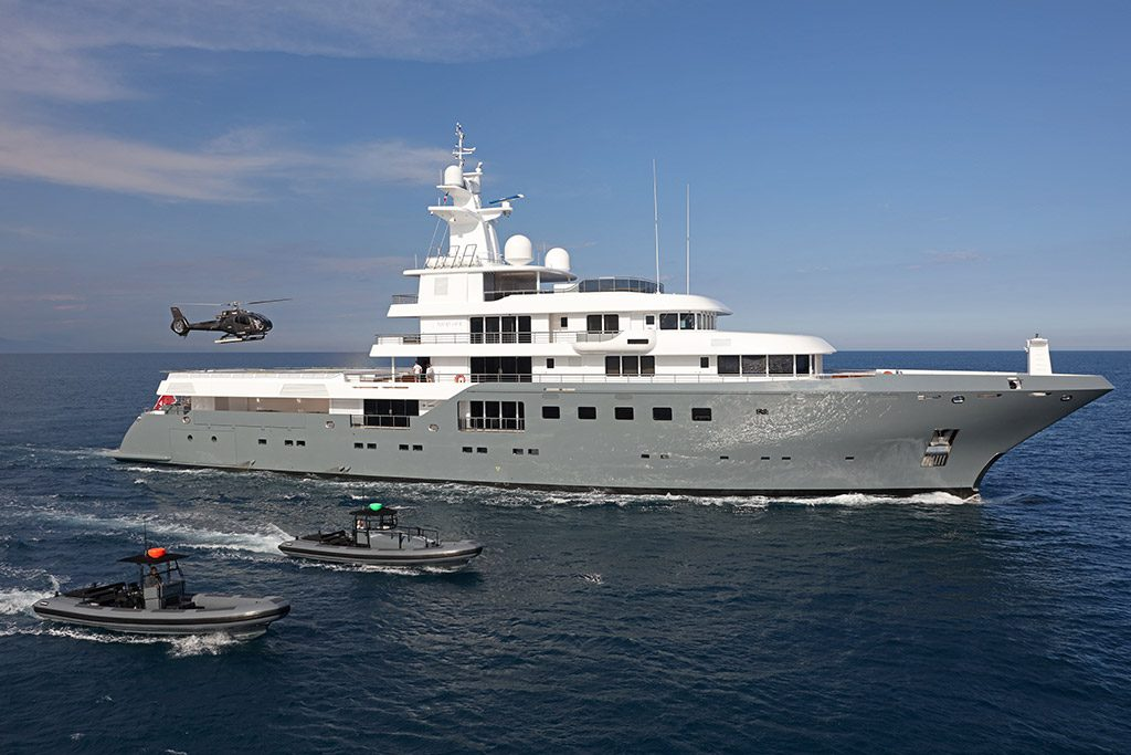 Planet Nine expedition yacht running shot