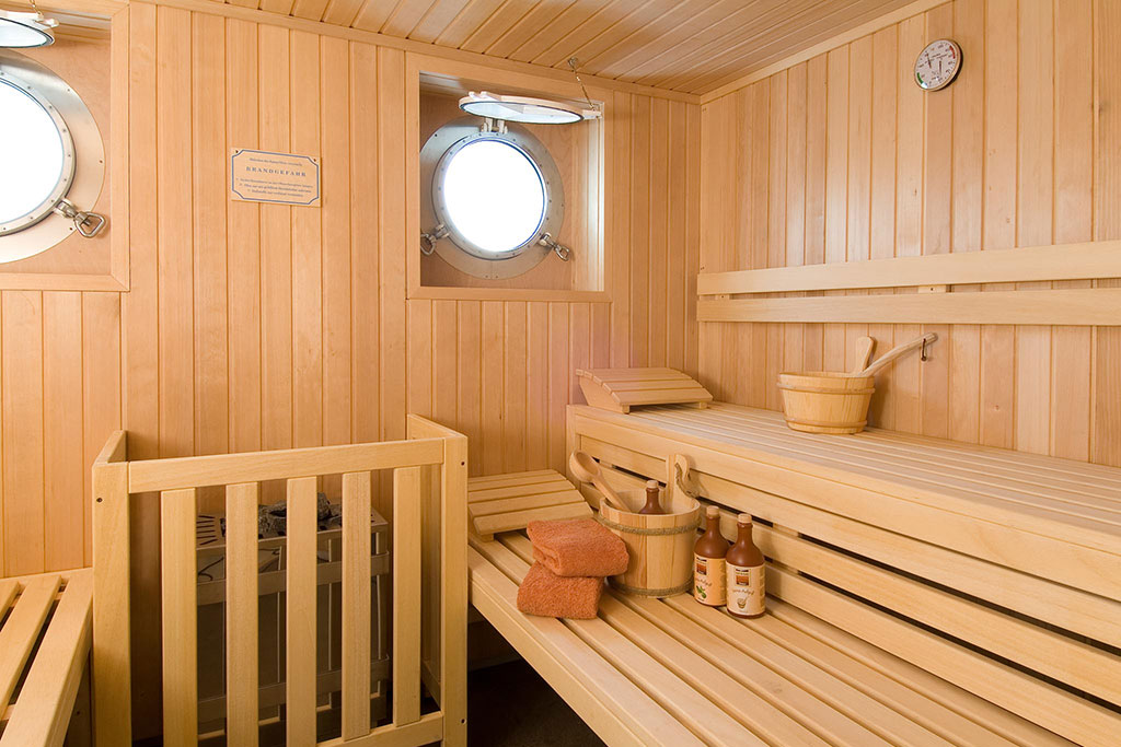 Hanse Explorer Luxury Expedition Yacht - the sauna