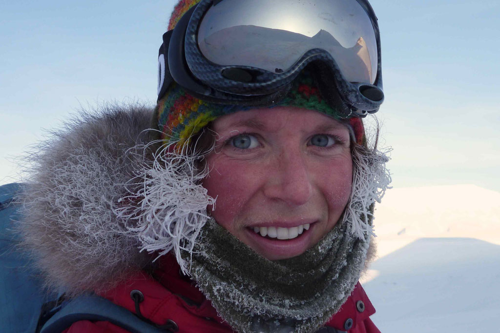 Sigrid Henjum, expedition guide for EYOS Expeditons
