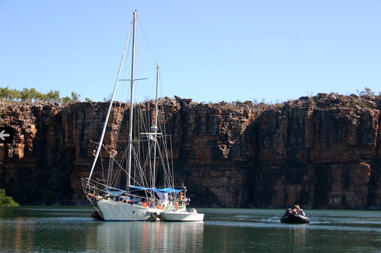 Sailboat in The Kimberley, Australia