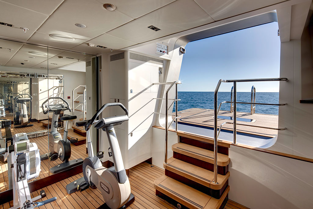 Vertigo Luxury Yacht - Exercise Room