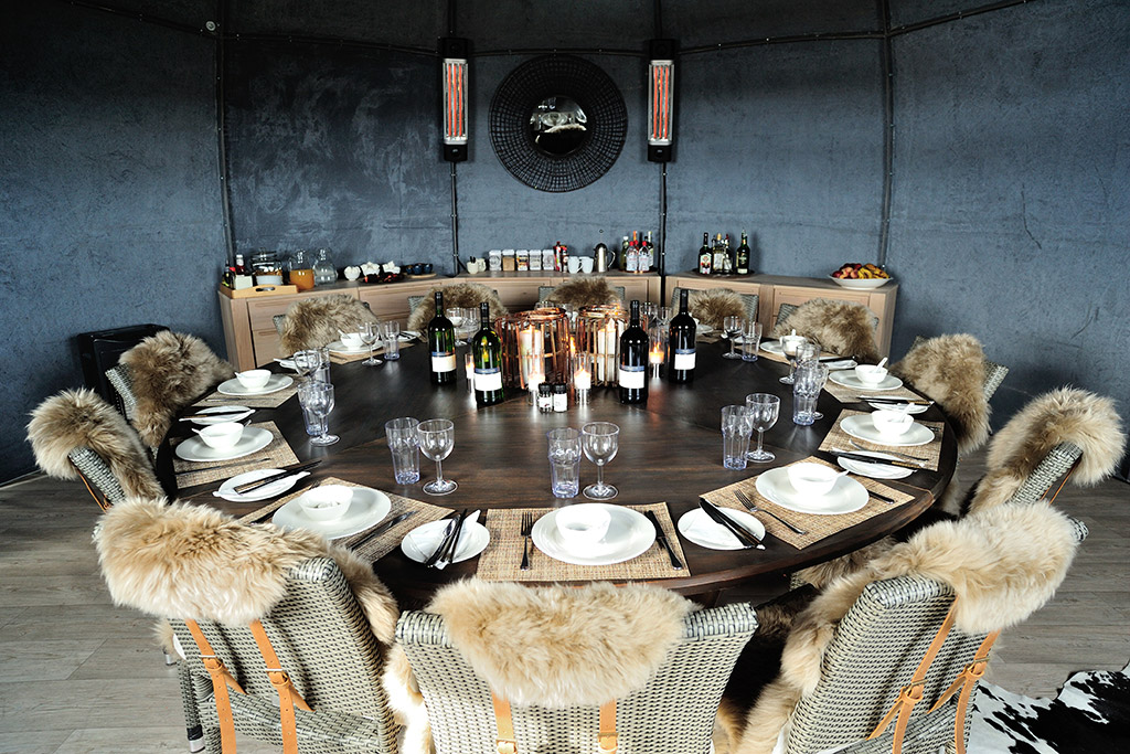 White Desert Luxury Camp   Dining Room   EYOS Expeditions